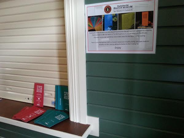 Our cards in the Station waiting room